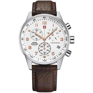 Swiss Military Leather Men's Chronograph Watch - SM34012.11