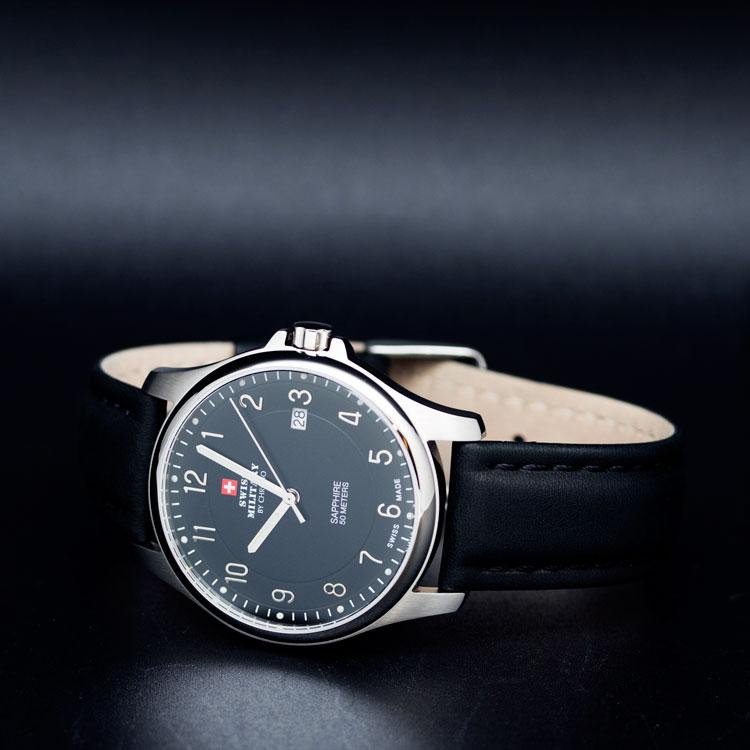 Swiss Military Leather Mens Watch - SM30137.06
