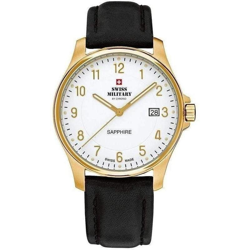 Swiss Military Leather Mens Watch - SM30137.09