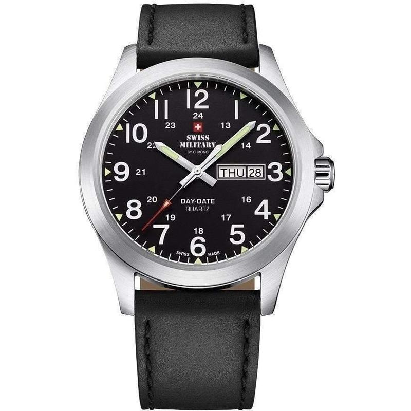Swiss Military Leather Mens Watch - SMP36040.15