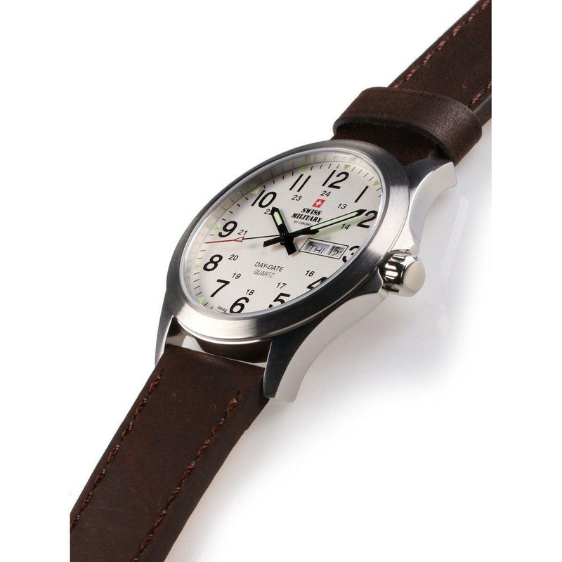 Swiss Military Leather Mens Watch - SMP36040.16-The Watch Factory Australia