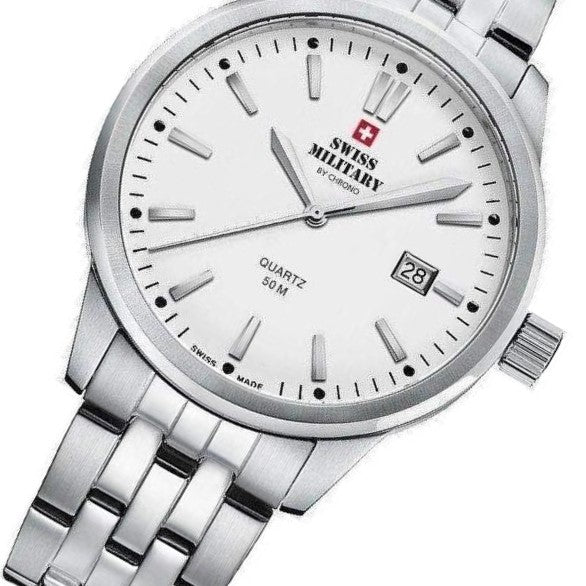 Swiss Military Stainless Steel Mens Watch - SMP36009.02