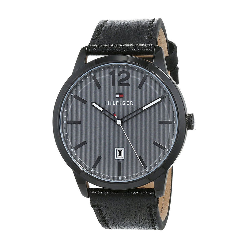 Tommy Hilfiger Black Leather Men's Watch - 1791497