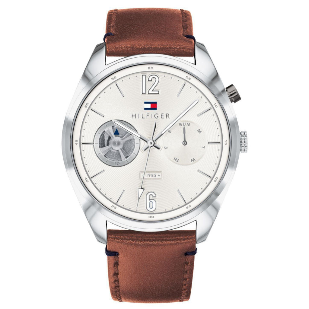 Tommy Hilfiger Brown Leather Men's Watch - 1791550