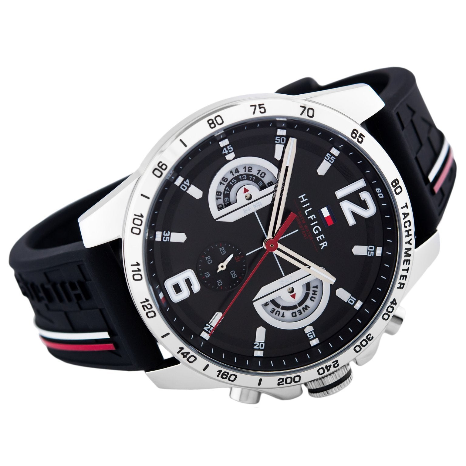 e429c057d31 Tommy Hilfiger Men s Black Sports Watch - 1791473 – The Watch ...
