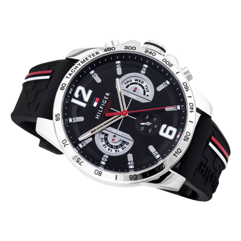 Tommy Hilfiger Men's Black Sports Watch - 1791473