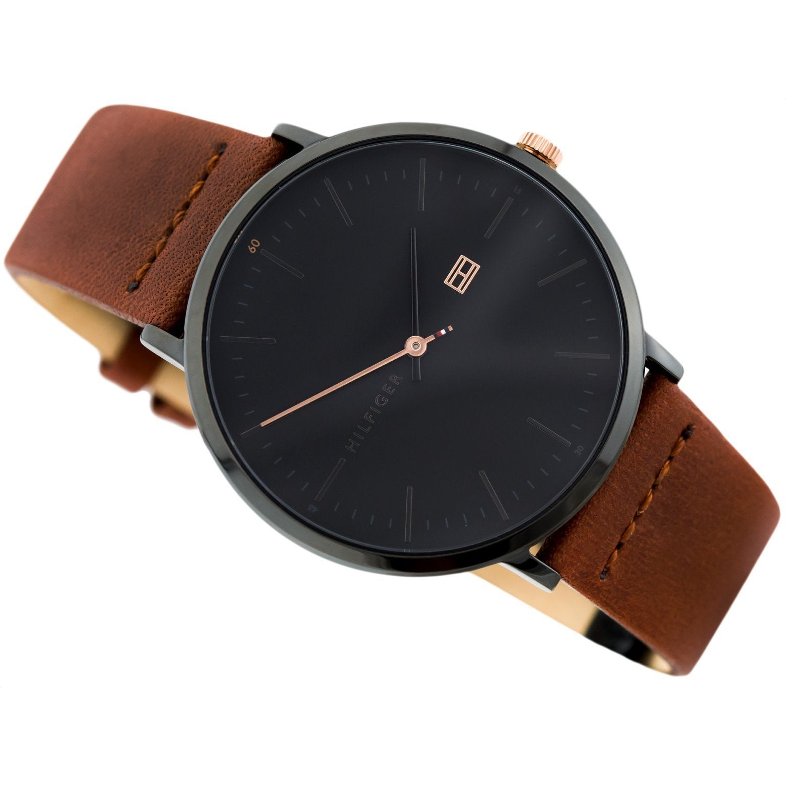 019b75e1 Tommy Hilfiger Men's Brown Leather Watch - 1791461 – The Watch ...