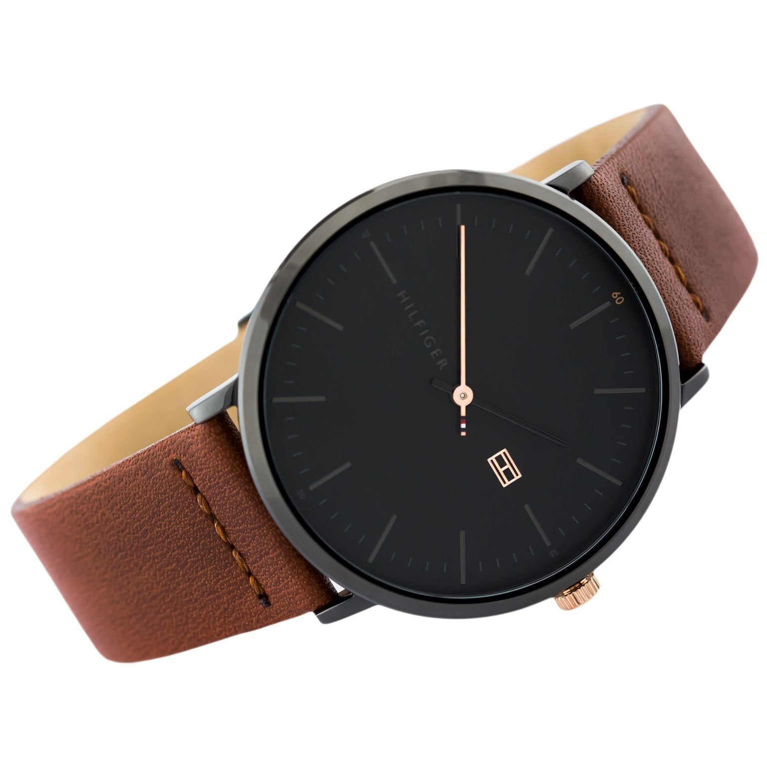 7598c6be Tommy Hilfiger Men's Brown Leather Watch - 1791461 – The Watch ...