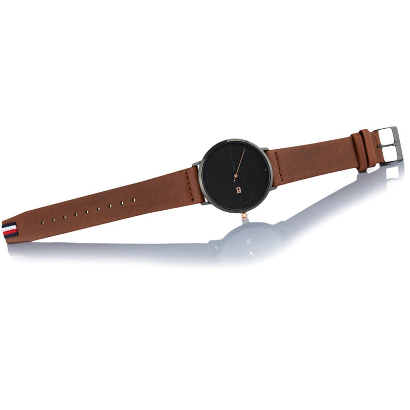 Tommy Hilfiger Men's Brown Leather Watch - 1791461