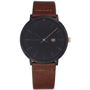 Tommy Hilfiger Men's Brown Leather Watch - 1791461-The Watch Factory Australia