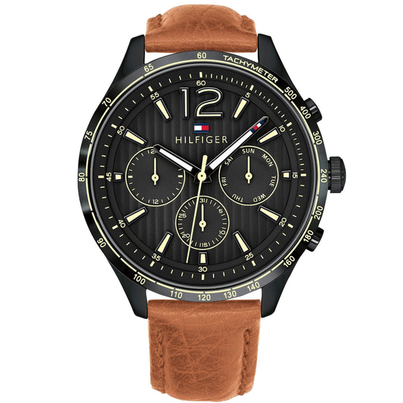Tommy Hilfiger Men's Brown Leather Watch - 1791470-The Watch Factory Australia