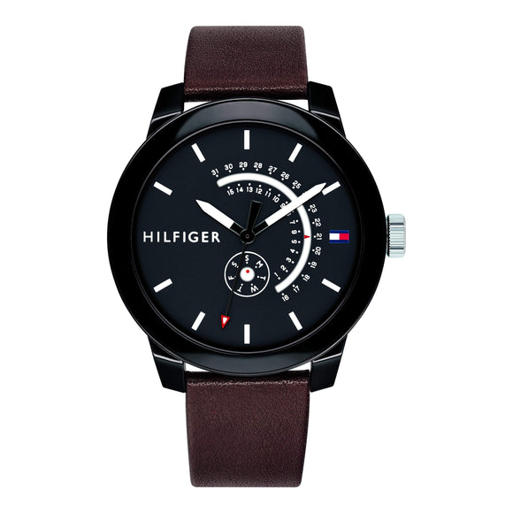 Tommy Hilfiger Men's Leather Sport Watch - 1791478-The Watch Factory Australia