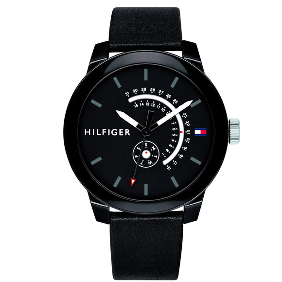 Tommy Hilfiger Men's Leather Sport Watch - 1791479-The Watch Factory Australia