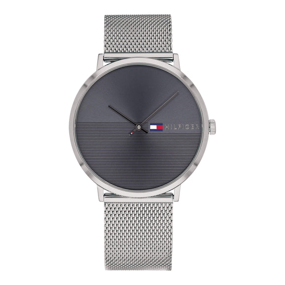 Tommy Hilfiger Men's Silver Mesh Watch - 1791465-The Watch Factory Australia