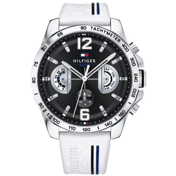 Tommy Hilfiger Men's White Sports Watch - 1791475-The Watch Factory Australia