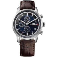 Tommy Hilfiger Multifunction Blue Dial Leather Men's Watch - 1791244-The Watch Factory Australia
