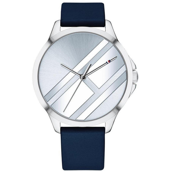 Tommy Hilfiger Navy Leather Women's Watch - 1781964