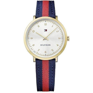 Tommy Hilfiger Slim Fabric/Leather Ladies Watch - 1781766-The Watch Factory Australia