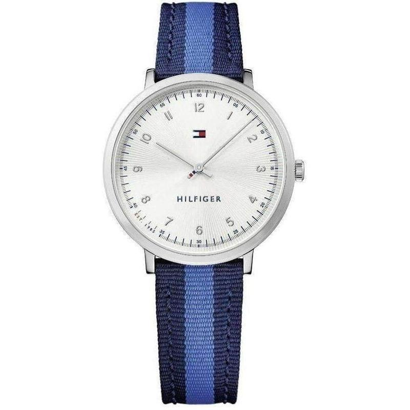 Tommy Hilfiger Slim Fabric/Leather Ladies Watch - 1781767-The Watch Factory Australia