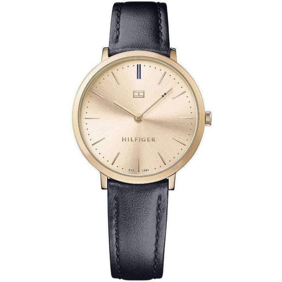 Tommy Hilfiger Slim Leather Ladies Watch - 1781693-The Watch Factory Australia