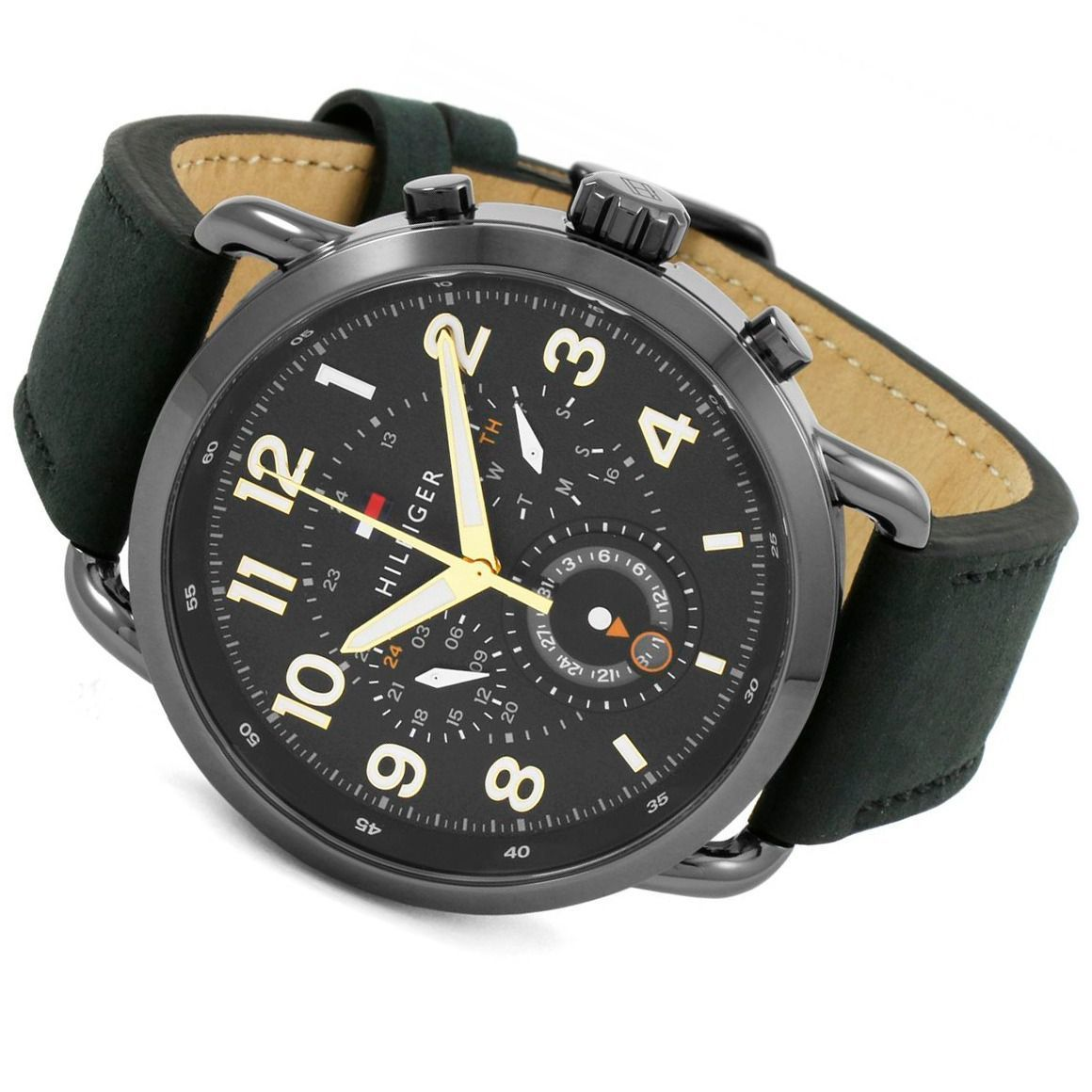 ... Tommy Hilfiger The Briggs Men s Black Leather Watch - 1791426-The Watch  Factory Australia ... 8e4a7f6bb76