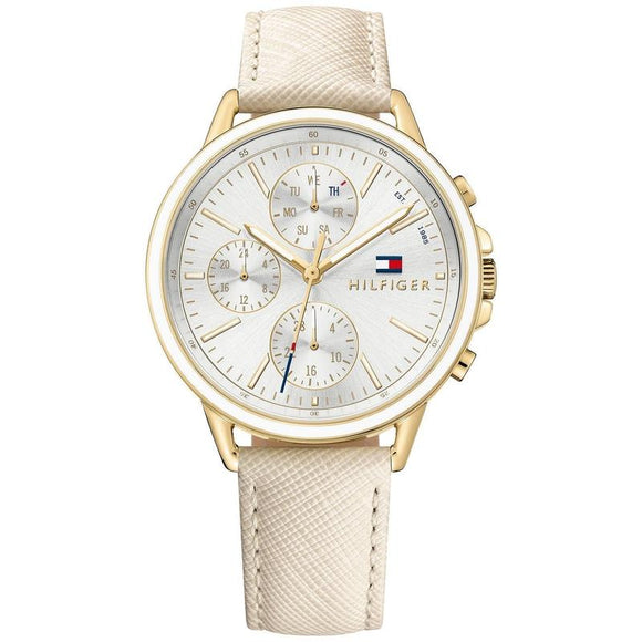 Tommy Hilfiger The Carly Ladies Nude Saffiano Leather Watch 1781790-The Watch Factory Australia