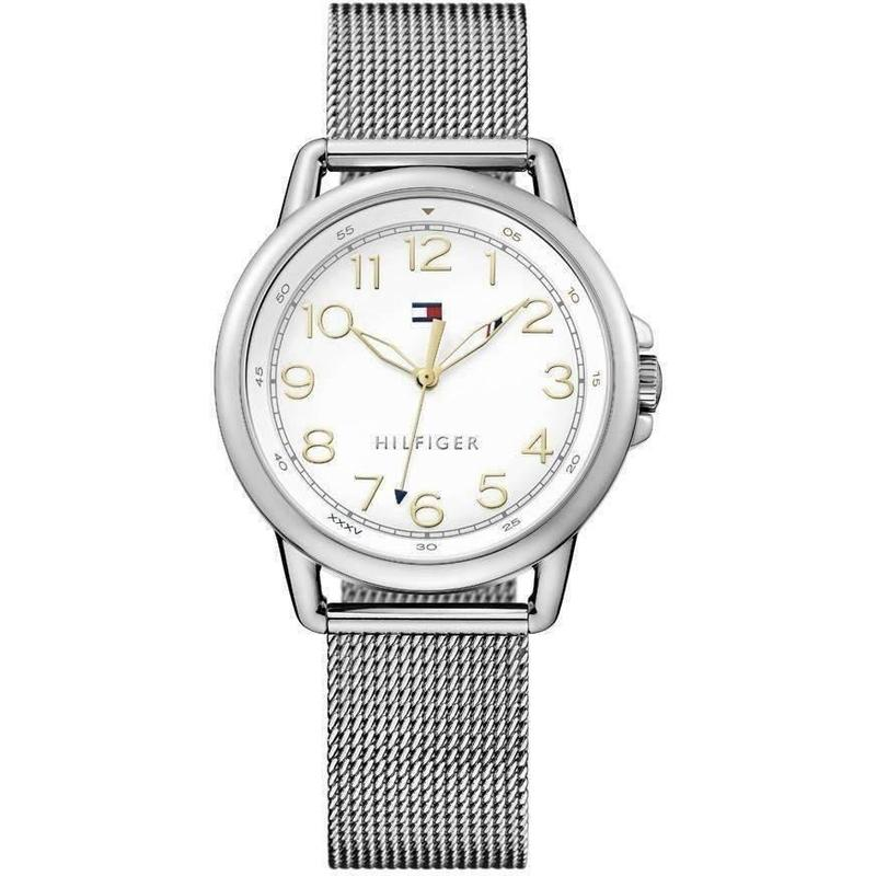 Tommy Hilfiger The Casey Ladies Silver Mesh Watch - 1781658-The Watch Factory Australia