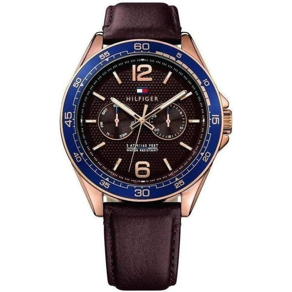 Tommy Hilfiger The Erik Men's Multi-functional Leather Watch - 1791367-The Watch Factory Australia