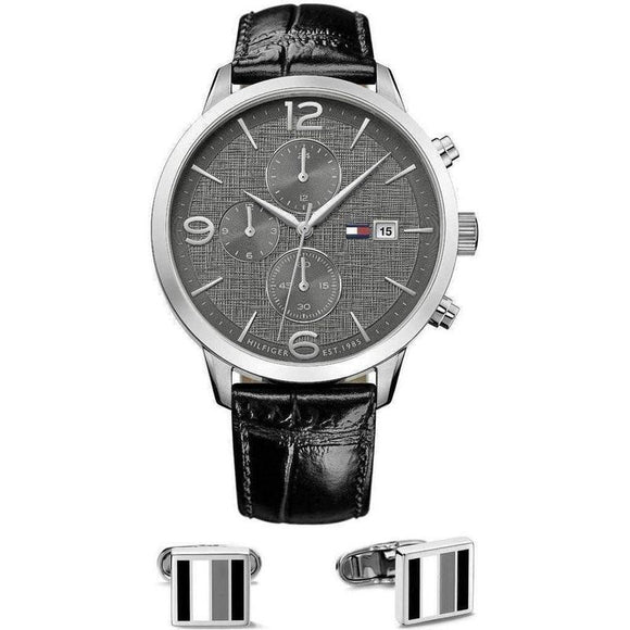 Tommy Hilfiger The Liam Mens Watch & Cufflinks Set - 1770015-The Watch Factory Australia