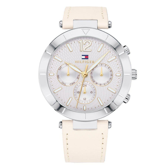 Tommy Hilfiger Women's Cream Leather Watch - 1781880-The Watch Factory Australia