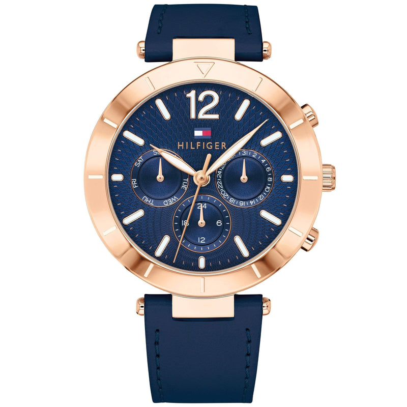 Tommy Hilfiger Women's Navy Leather Watch - 1781881-The Watch Factory Australia
