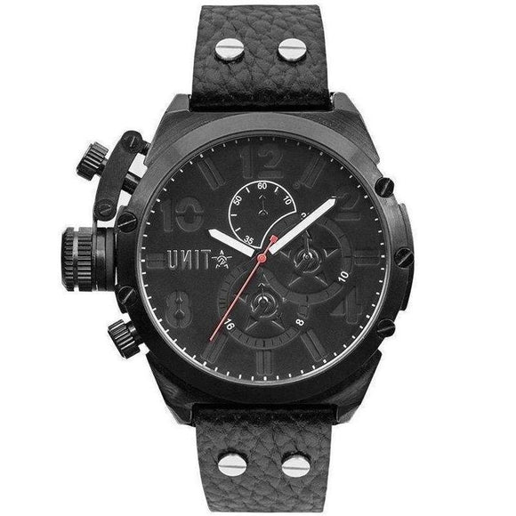 UNIT Men's Distinct Leather Watch