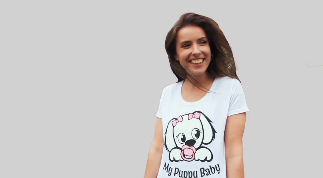 My Puppy Baby Adult T-Shirt