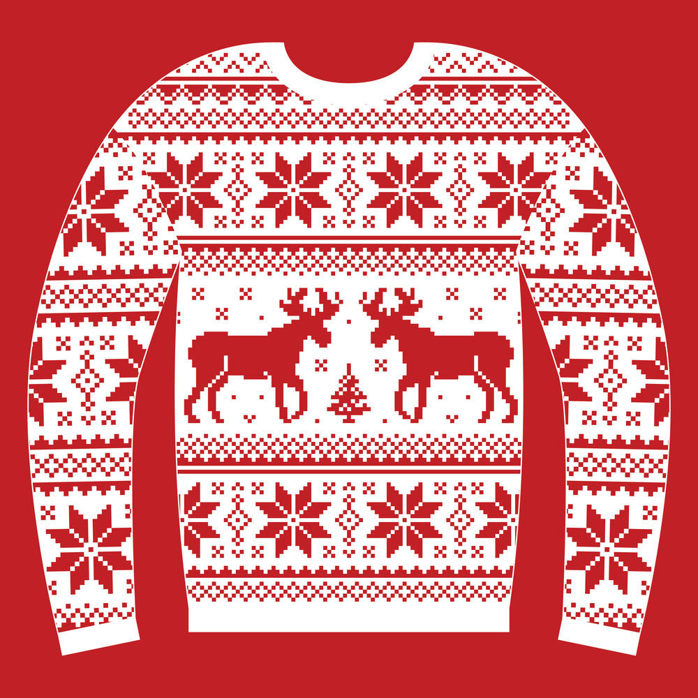 Red Jumper with Reindeer