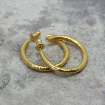 Gurhan 24ct yellow gold hoop