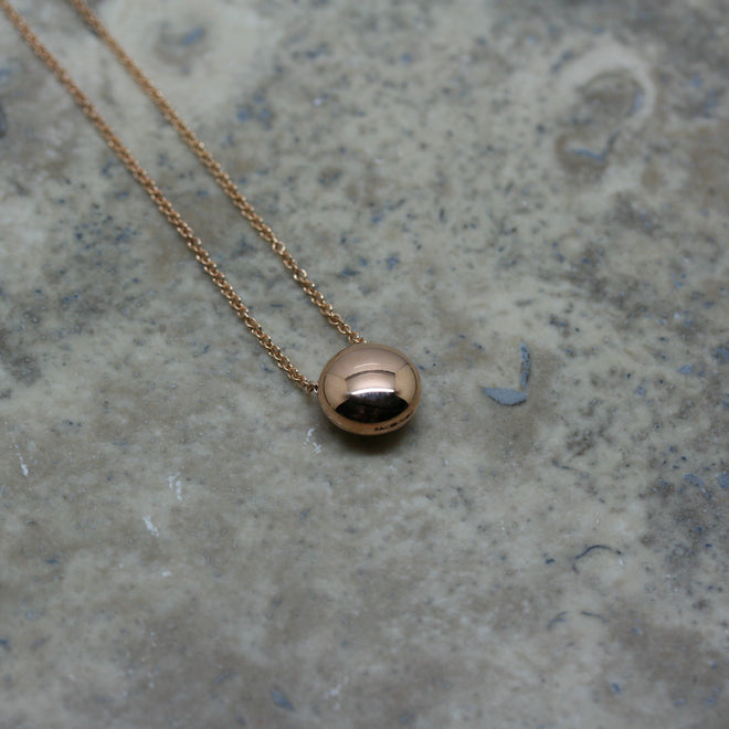 S & CO 18ct Gold 'Button' Bead Necklace