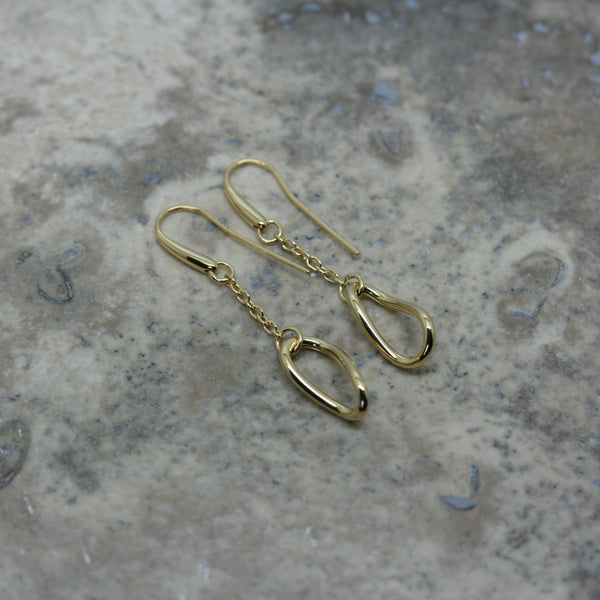 S & CO 18ct Yellow Gold 'Twisted Link' Earrings