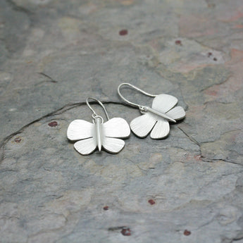 Collette Waudby Silver Butterfly Earrings