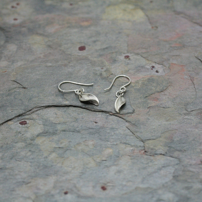 Collette Waudby Silver Leaf Earrings