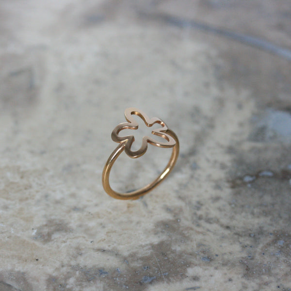 ADAM 18ct Rose Gold Large 'Daisy' Ring