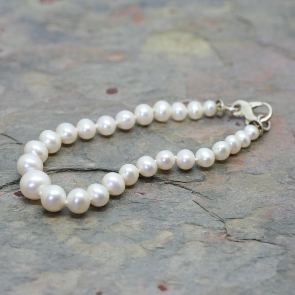 RAW Graduated Cultured Pearl Bracelet