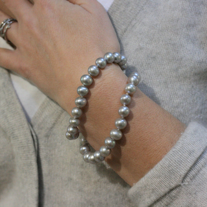 RAW Grey Cultured River Pearl Bracelet