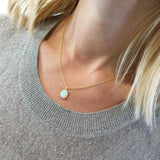 REI 18ct Yellow Gold & Opal Necklace