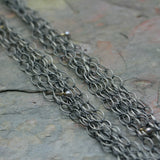 SAN Oxidised Silver 'Multi' Chain And Pearl Necklace