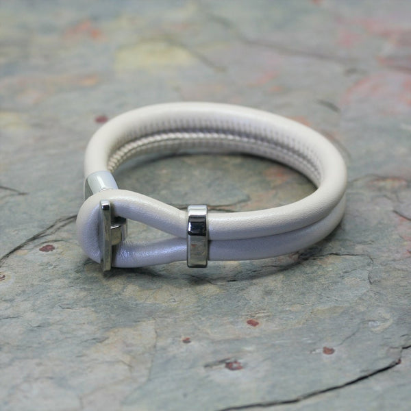 San Design Coloured Leather Bracelet with Steel Clasp