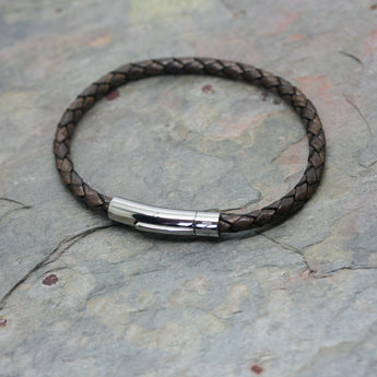SAN 'Plaited' Leather Bracelet