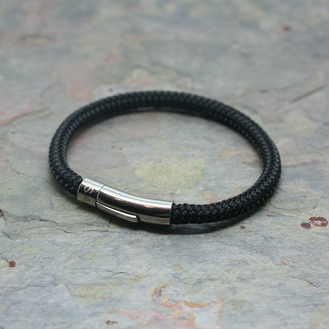 SAN Single Row Gents Nylon Rope Bracelet