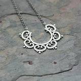 SASHA Silver 'Ornate Tribal' Bib Necklace