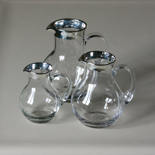 SONJA QUANDT Rounded Silver Edged Glass Jug