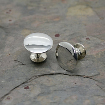 OCD Silver 'Simply Shape' Cufflinks